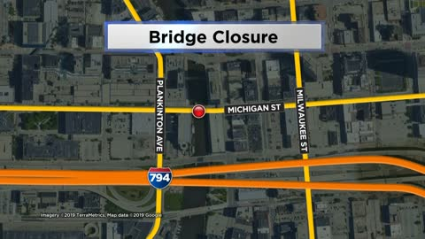 Michigan Street Bridge set to close this morning until 2020 for reconstruction