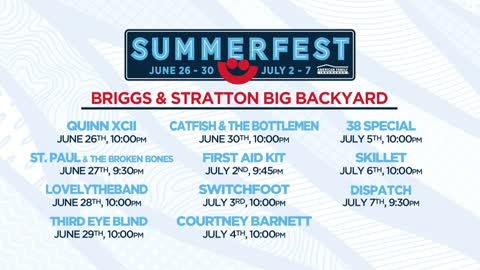 Summerfest releases lineup for Briggs & Stratton Big Backyard stage