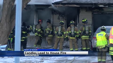 UPDATE: Brookfield house fire caused by candle, officials say