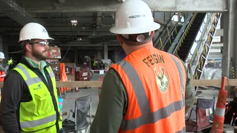 Look inside construction site for new Bucks arena