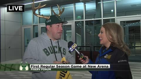 Bucks home opener at Fiserv Forum Friday night