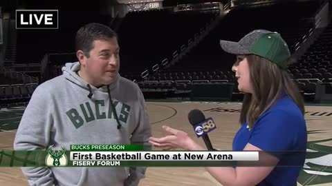 Bucks to host first basketball game inside Fiserv Forum Wednesday night