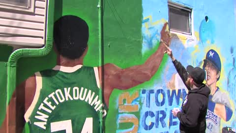 MVP mural in Walker's Point features Giannis Antetokounmpo...