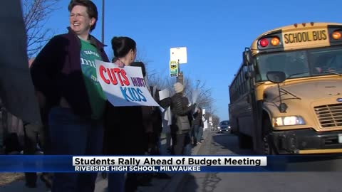 Students, staff rally against proposed MPS budget cuts