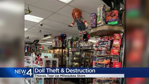 Burglary suspect steals Chucky doll from consignment shop, causes thousands in damage