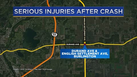 Several hurt in crash in Town of Burlington