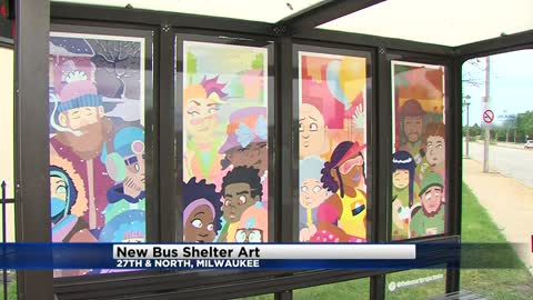 Milwaukee County Transit System unveils new art at bus stops