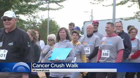 Hundreds turn out for 'Cancer Crush Run/Walk' to raise money for lifesaving cancer research