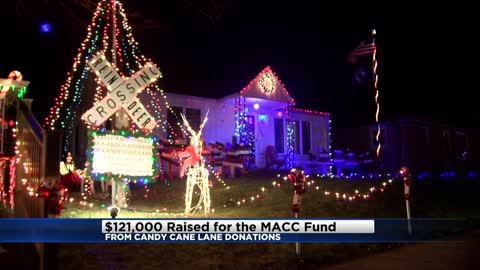 Candy Cane Lane raises $121,000 for the MACC Fund