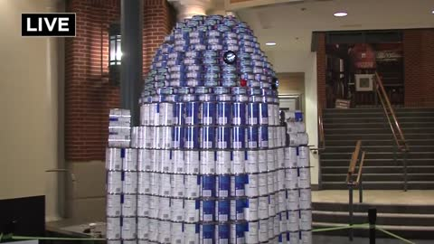"It's a ""Can Do"" spirit at Bayshore Town Center with ""Canstruction"""