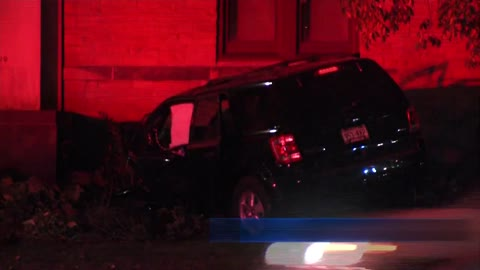 Woman injured after car crashes into church Halloween night