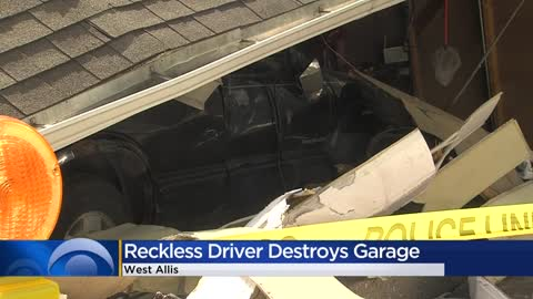 Update: Teen seriously injured after crashing into garage in West Allis