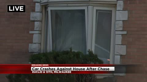 Car crashes into house following Greenfield Police pursuit, suspects in custody