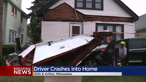 Driver crashes into home near 20th and Arthur