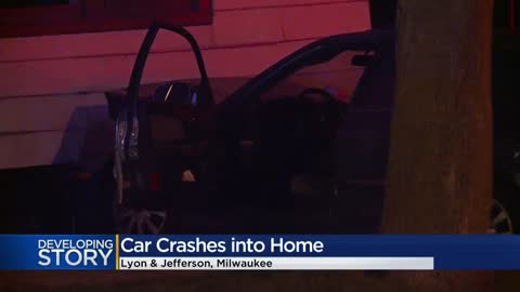 Car crashes into home near Lyon and Jefferson