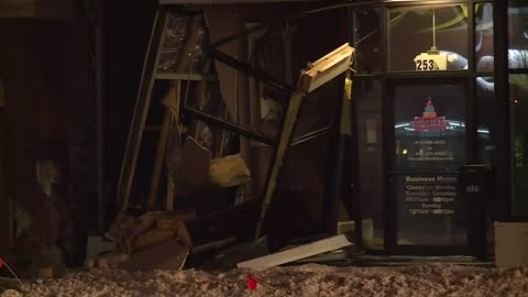 Reckless driver loses control, crashes into building near 26th and National