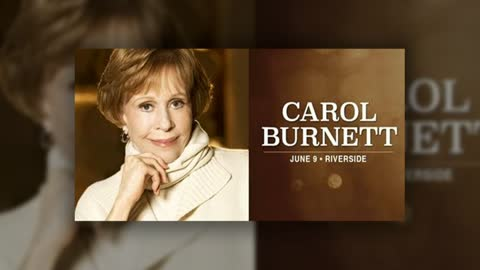 Comedy legend Carol Burnett coming to Riverside Theater