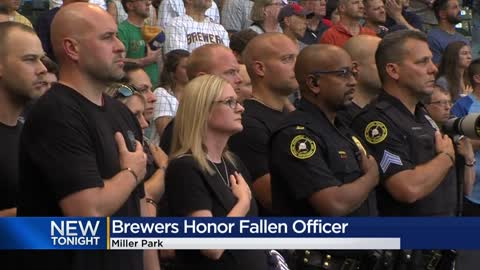 Widow of fallen Milwaukee Police Officer Rittner throws out first...