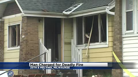 Man charged in deaths of grandparents, killed in fire at 25th and Melvina