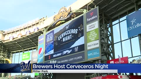 'It brings diversity to our community': Brewers host Cerveceros Night