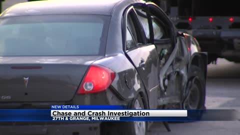 Driver gets away after car chased by Franklin Police crashes near 27th and Grange