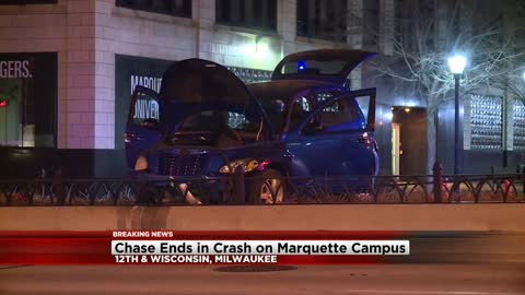 1 arrested following chase, crash in Milwaukee