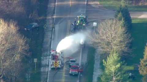 35 released, two remain hospitalized after chemical leak from truck leaving Wisconsin farm