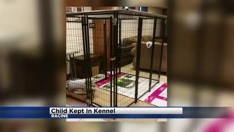 Two arrested after 9-year-old kept in dog kennel in Racine County