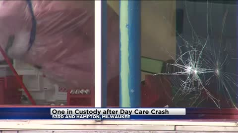 Milwaukee Police: One in custody after car crashes into daycare