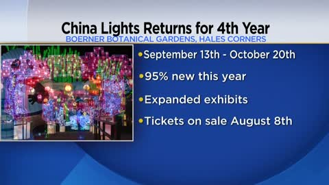 China Lights returning to Boerner Botanical Gardens this September