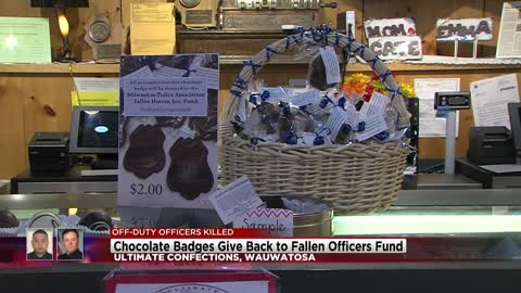 Local business sells chocolate badges to benefit Milwaukee fallen...