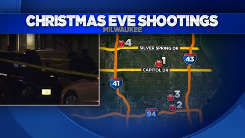 Milwaukee Police investigating six separate Christmas Eve and Christmas Day shootings