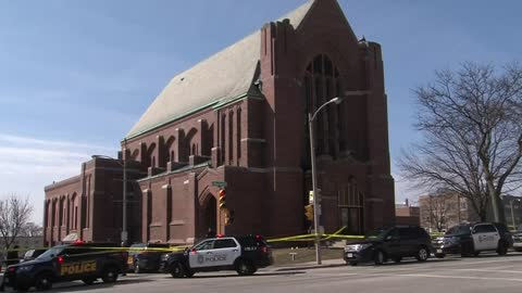 Prayer service held for man found dead on steps of church
