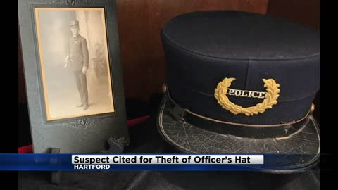 Two cited in connection to theft of fallen Hartford officer's hat