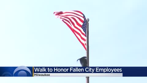 Walk held to honor fallen Milwaukee city employees