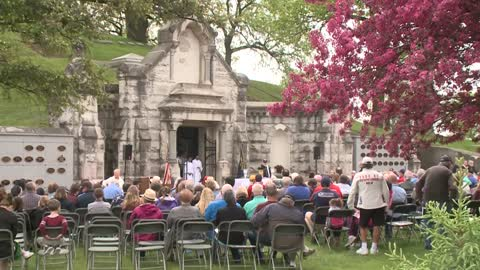 Tribute to Civil War Soldiers held at Calvary Cemetery