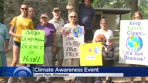 Demonstrators rally at climate awareness events throughout Wisconsin