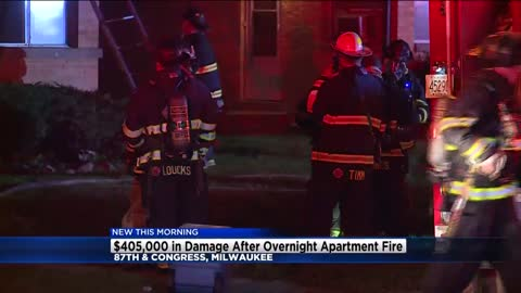 Milwaukee apartment fire causes $405,000 in damage, no one hurt