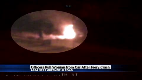 New Berlin police officers remain low key about their heroics that saved a woman from a fiery crash