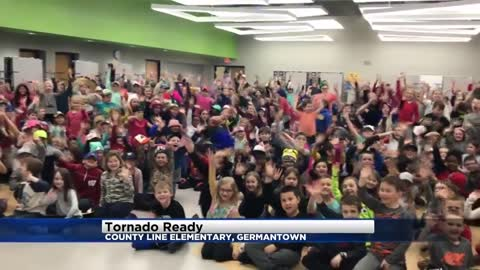 Tornado Ready at County Line Elementary in Germantown