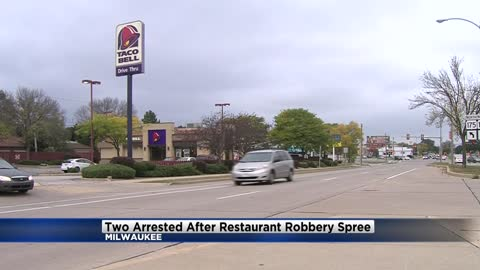 Couple arrested in stolen vehicle after armed robbery spree on north side of Milwaukee