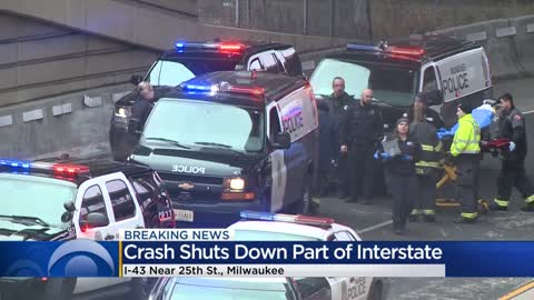Traffic incident shuts down I-94 EB to I-43 NB in Marquette Interchange