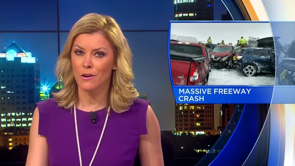 UPDATE: Teacher killed, 71 injured in 131-vehicle pileup on
