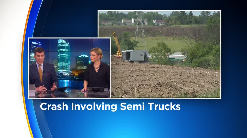 Freeway reopened after semi crash shuts down NB lanes of I-94 at Hwy G