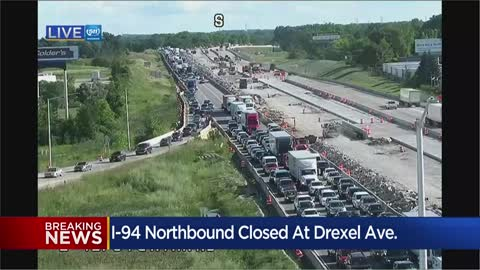 All lanes reopen on NB I-94 hours after motorcycle, SUV crash
