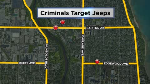 Shorewood Police respond to car theft and two entries to vehicles all involving Jeeps
