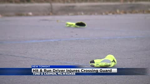 Crossing guard remains in hospital after hit-and-run