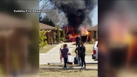 Detached garage destroyed after fire in Cudahy