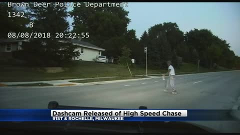 Dash cam: Suspects steal from Family Dollar, lead Brown Deer Police on high speed chase
