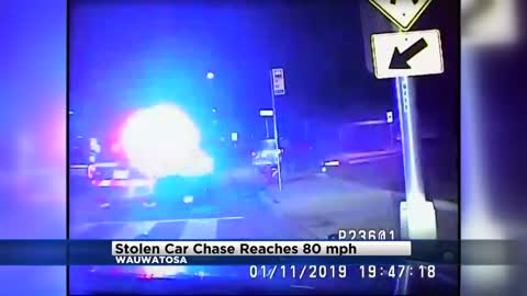 Caught on dash cam: Stolen car chase reaches 80 MPH through Wauwatosa